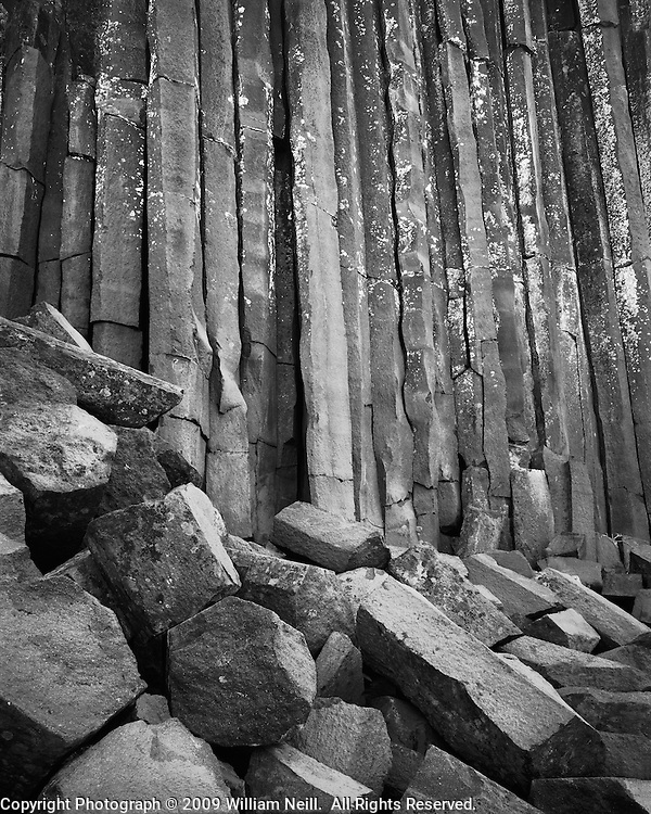 Basalt columns, Devil's Postpile National Monument, California