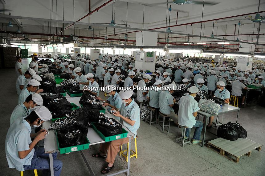 A factory manufactures Mcdonald's Toys in Dongguan, Guangdong, China..