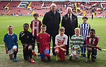 Ex-Referee Keith Hacket and Glyn Youdan with the clubs taking part at the Youdan Trophy Draw at Bramall Lane in Sheffield. Photo by Glenn Ashley.