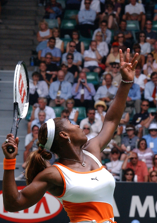 Australian Open Tennis 2003.20/01/2003.Serena Williams of the USA.