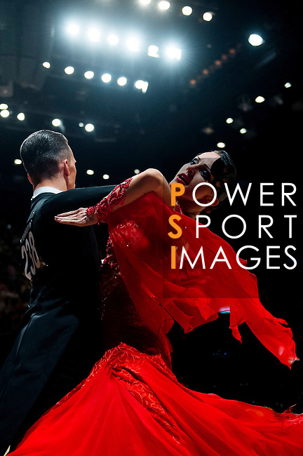 Nikolay Darin and Natalia Seredina of Moldova during the WDSF GrandSlam Standard on the Day 2 of the WDSF GrandSlam Hong Kong 2014 on June 01, 2014 at the Queen Elizabeth Stadium Arena in Hong Kong, China. Photo by AItor Alcalde / Power Sport Images