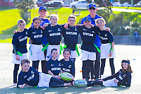 The Scotland (Otago) team poses for a team photo on day one of the 2019 Air NZ Rippa Rugby Championship at Wakefield Park in Wellington, New Zealand on Monday, 26 August 2019. Photo: Dave Lintott / lintottphoto.co.nz