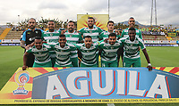 BOGOTÁ - COLOMBIA, 05-05-2019: Jugadores de Equidad posan para una foto previo al partido entre La Equidad y Atlético Bucaramanga por la fecha 20 de la Liga Águila I 2019 jugado en el estadio Estadio Metroplitano de Techo de la ciudad de Bogotá. / Players of Equidad pose to a photo prior the match between La Equidad and Atletico Bucaramanga for the date 20 as part Aguila League I 2019 played at Metropolitano de Techo stadium in Bogota city. Photo: VizzorImage/ Cristian Alvarez / Cont
