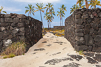 """The Great Wall"" in Pu'uhonua o Honaunau National Historical Park, Big Island."