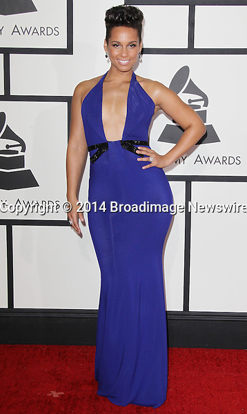 Pictured: Alicia Keys<br /> Mandatory Credit &copy; Frederick Taylor/Broadimage<br /> 56th Annual Grammy Awards - Red Carpet<br /> <br /> 1/26/14, Los Angeles, California, United States of America<br /> <br /> Broadimage Newswire<br /> Los Angeles 1+  (310) 301-1027<br /> New York      1+  (646) 827-9134<br /> sales@broadimage.com<br /> http://www.broadimage.com