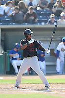 Burt Reynolds (23) of the Bakersfield Blaze bats during a game against the Rancho Cucamonga Quakes at LoanMart Field on June 1, 2015 in Rancho Cucamonga, California. Rancho Cucamonga defeated Bakersfield, 5-2. (Larry Goren/Four Seam Images)