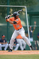 Houston Astros outfielder Brauly Mejia (45) during an Instructional League game against the Atlanta Braves on September 22, 2014 at the ESPN Wide World of Sports Complex in Kissimmee, Florida.  (Mike Janes/Four Seam Images)