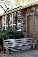 Wooden exterior bench