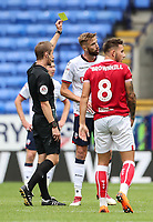 Bolton Wanderers' Mark Beevers receives a yellow card from referee John Brooks<br /> <br /> Photographer Andrew Kearns/CameraSport<br /> <br /> The EFL Sky Bet Championship - Bolton Wanderers v Bristol City - Saturday August 11th 2018 - University of Bolton Stadium - Bolton<br /> <br /> World Copyright &copy; 2018 CameraSport. All rights reserved. 43 Linden Ave. Countesthorpe. Leicester. England. LE8 5PG - Tel: +44 (0) 116 277 4147 - admin@camerasport.com - www.camerasport.com