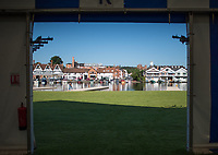 Henley. Berks, United Kingdom. <br /> <br /> General View, GV. Looking from the boat tent across the river to the town. 2017 Henley' Women's Regatta. Rowing on, Henley Reach. River Thames. <br /> <br /> <br /> Saturday  17/06/2017<br /> <br /> <br /> [Mandatory Credit Peter SPURRIER/Intersport Images]