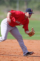 March 18, 2010:  Infielder Christian Colonel of the Boston Red Sox organization during Spring Training at Ft.  Myers Training Complex in Fort Myers, FL.  Photo By Mike Janes/Four Seam Images