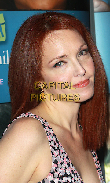 "AMY YASBECK.Alliance For Children's Rights ""Right To Laugh"" Fundraiser  held at the Catalina Jazz Club, Hollywood, California, USA..March 15th, 2010.headshot portrait white pink grey gray black pattern print .CAP/ADM/TC.©T. Conrad/AdMedia/Capital Pictures."