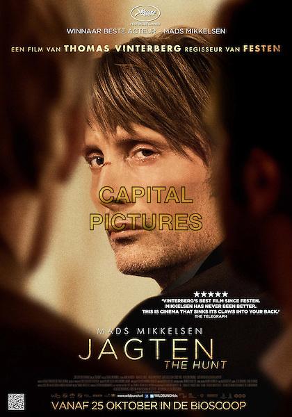 Original Danish Poster Art<br /> in The Hunt (2012) <br /> (Jagten)<br /> *Filmstill - Editorial Use Only*<br /> CAP/FB<br /> Image supplied by Capital Pictures