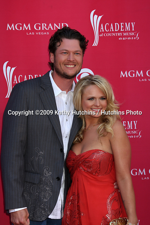 Blake Shelton & Miranda Lambert  arriving at the 44th Academy of Country Music Awards at the MGM Grand Arena in  Las Vegas, NV on April 5, 2009.©2009 Kathy Hutchins / Hutchins Photo....                .
