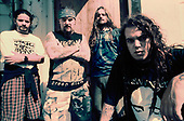 SEPULTURA - L-R: Paolo Jr, Max Cavalera, Andreas Kisser, Igor Cavalera - Photosession in London UK - 01 Sep 1993.  Photo credit: George Chin/IconicPix