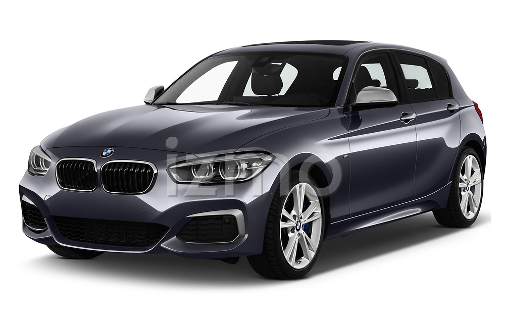 2018 BMW 1 Series Base 5 Door Hatchback angular front stock photos of front three quarter view