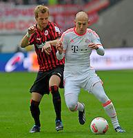 FRANKFURT, ALEMANHA, 06 ABRIL 2013 - CAMPEONATO ALEMÃO - EINTRACHT FRANKFURT X BAYERN MUNIQUE -Arjen Robber jogador do Bayern de Munique em partida contra o Eintracht Frankfur na cidade DE Frankfurt na Alemanha, neste sábado, 06.  FOTO: BERND FEIL /  PIXATHLON / BRAZIL PHOTO PRESS.