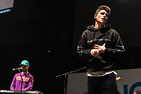 SAN JOSE, CA - DECEMBER 1: Jack Gilinsky and Jack Johnson of Jack and Jack perform onstage at The SAP Center during the 99.7 Now POPTOPIA in San Jose, California. <br /> CAP/MPI/IS/CT<br /> &copy;CT/IS/MPI/Capital Pictures