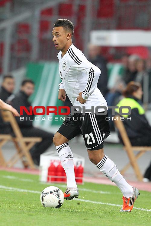 12.10.2012, BayArena, Leverkusen, GER, U21 EMQ, Deutschland vs Schweiz, im Bild<br /> Karim Bellarabi (Deutschland #21, Leverkusen)<br /> <br /> Foto &copy; nph / Mueller *** Local Caption ***
