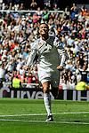 Real Madrid´s Cristiano Ronaldo celebrates a goal during 2014-15 La Liga match between Real Madrid and Granada at Santiago Bernabeu stadium in Madrid, Spain. April 05, 2015. (ALTERPHOTOS/Luis Fernandez)