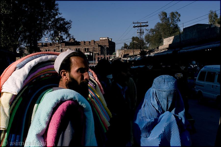bazaar scene, peshawar,