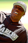 5 September 2005: Dontrelle Willis, All-Star pitcher for the Florida Marlins, prior to a game against the Washington Nationals. The Nationals defeated the Marlins 5-2 at RFK Stadium in Washington, DC. Mandatory Photo Credit: Ed Wolfstein.