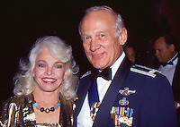 Buzz Aldrin & Wife Lois 1992 By <br />