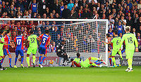 Dejan Lovren scores Liverpools 2nd goal during the EPL - Premier League match between Crystal Palace and Liverpool at Selhurst Park, London, England on 29 October 2016. Photo by Steve McCarthy.