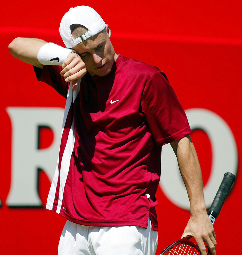 Photograph: Scott Heavey..Day 5 of the Stella Artois Championship at the Queens Club. 13/06/2003..Lleyton Hewitt