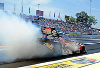 Jun. 3, 2012; Englishtown, NJ, USA: NHRA funny car driver Tony Pedregon during the Supernationals at Raceway Park. Mandatory Credit: Mark J. Rebilas-