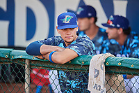 Marco Hernandez (38) of the Ogden Raptors before the game against the Orem Owlz at Lindquist Field on August 3, 2018 in Ogden, Utah. The Raptors defeated the Owlz 9-4. (Stephen Smith/Four Seam Images)
