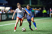 Boston, MA - Friday July 07, 2017: Arin Gilliland and Margaret Purce during a regular season National Women's Soccer League (NWSL) match between the Boston Breakers and the Chicago Red Stars at Jordan Field.