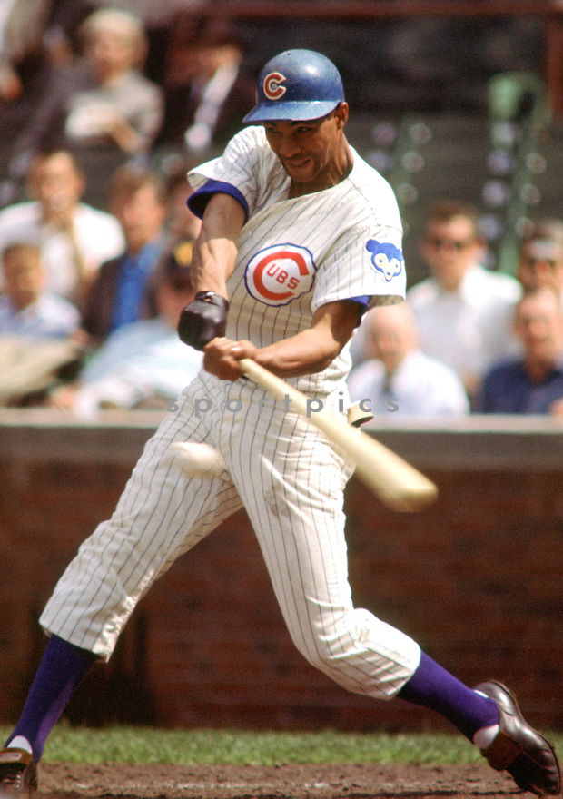 Chicago Cubs Billy Williams (26) during a game from his 1965 season at Wrigley Field in Chicago, Illinois. Billy Williams played for 18 season, with 2 different teams, was a 6-time All-Star and was inducted to the Baseball Hall of Fame in 1987(SportPics)