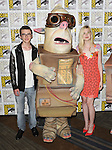 Issac Hempstead Wright and HempElle fanning at the Boxtrolls Panel at Comic-Con 2014  held at The Hilton Bayfront Hotel in San Diego, Ca. July 26, 2014.