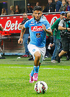 Lorenzo Insigne  during the Italian serie A   soccer match between SSC Napoli and Inter    at  the San Siro    stadium in Milan  Italy , Octoberr 19 , 2014