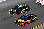 Monster Energy NASCAR Cup Series<br /> Daytona 500<br /> Daytona International Speedway, Daytona Beach, FL USA<br /> Sunday 18 February 2018<br /> Martin Truex Jr., Furniture Row Racing, Bass Pro Shops/5-hour ENERGY Toyota Camry, Jimmie Johnson, Hendrick Motorsports, Lowe's for Pros Chevrolet Camaro<br /> World Copyright: Logan Whitton<br /> LAT Images