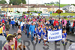 Laune Rangers youngsters crosses the bridge over the River Laune at the Puck Fair parade on Sunday