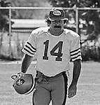 San Francisco 49ers training camp August 3, 1982 at Sierra College, Rocklin, California.  San Francisco 49ers kicker Ray Wersching (14)