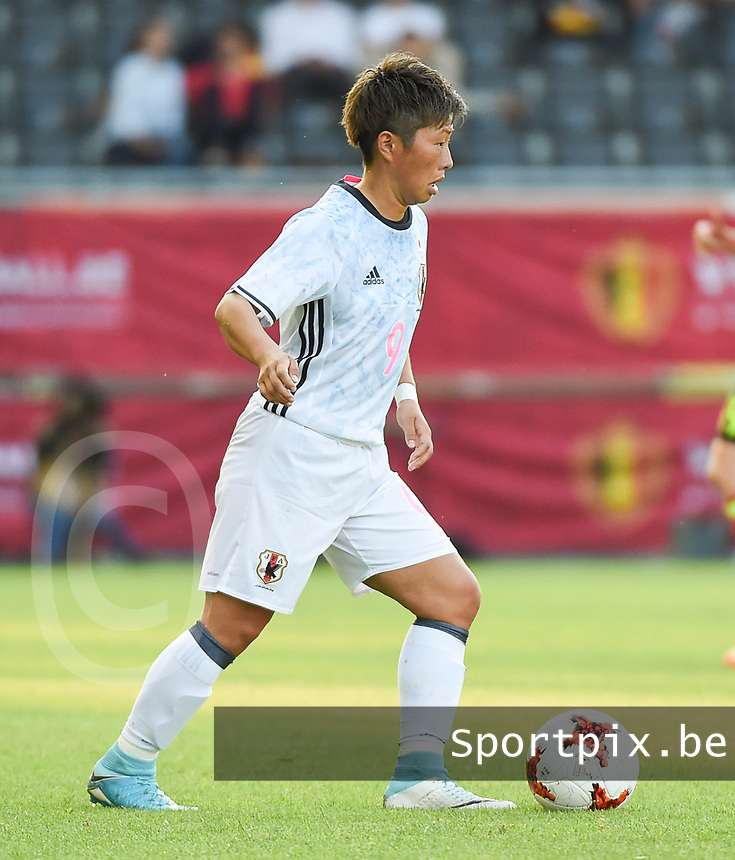 20170613 - LEUVEN ,  BELGIUM : Japanese Kumi Yokoyama  pictured during the female soccer game between the Belgian Red Flames and Japan , a friendly game before the European Championship in The Netherlands 2017  , Tuesday 13 th Juin 2017 at Stadion Den Dreef  in Leuven , Belgium. PHOTO SPORTPIX.BE | DIRK VUYLSTEKE