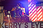 CRASH: A driver received minor injuries in Ballyheigue on Friday night after his car overturned. Gardai, ambulance and mebers of the Kerry Fire Service all attended the scene..