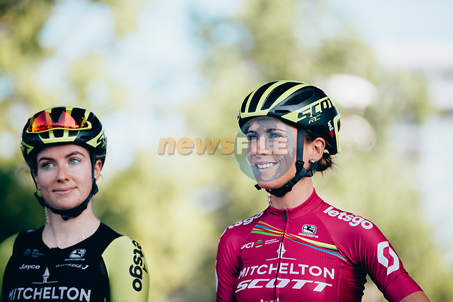 Annemiek Van Vleuten (NED) Mitchelton-Scott Women at sign on before the start of La Course 2019 By Le Tour running 121km from Pau to Pau, France. 19th July 2019.<br /> Picture: ASO/Thomas Maheux | Cyclefile<br /> All photos usage must carry mandatory copyright credit (© Cyclefile | ASO/Thomas Maheux)