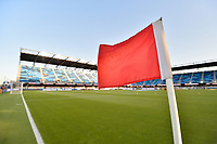 San Jose, CA - Friday April 14, 2017: Corner flag  prior to a Major League Soccer (MLS) match between the San Jose Earthquakes and FC Dallas at Avaya Stadium.