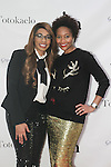 (l-r) Shekinah Beckett and Monique Pridgeon attend the 3rd Annual Wives' Holiday Soiree at Totokaelo in SOHO on December 9, 2015.