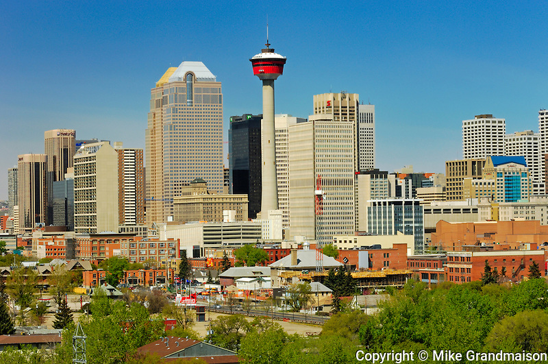 Calgary Tower and city skyline<br /> Calgary<br /> Alberta<br /> Canada