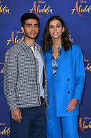 Mena Massoud and Naomi Scott<br /> at 'Aladdin' film photocall with the cast at the Rosewood Hotel, London, England on May 10, 2019<br /> CAP/JOR<br /> &copy;JOR/Capital Pictures