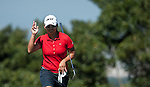 Yani Tseng of Taiwan acknowledges to the crowd on the 6th green during the day one of the Sunrise LPGA Taiwan Championship at the Sunrise Golf Course on October 25, 2012 in Taoyuan, Taiwan. Photo by Victor Fraile / The Power of Sport Images