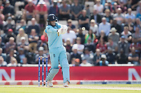 Joe Root (England) pulls a short delivery square for four during England vs West Indies, ICC World Cup Cricket at the Hampshire Bowl on 14th June 2019