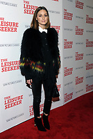 NEW YORK, NY - JANUARY 11:  Olivia Palermo at The Leisure Seeker New York Screening at AMC Loews Lincoln Square in New York City on January 11, 2018. <br /> CAP/MPI/JP<br /> &copy;JP/MPI/Capital Pictures