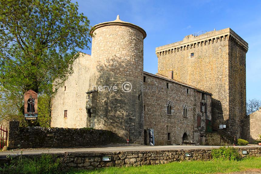 France, Aveyron (12), le Viala-du-Pas-de-Jaux,  la Tour du Viala-du-Pas-de-Jaux // France, Aveyron, le Viala du Pas de Jaux, the tower