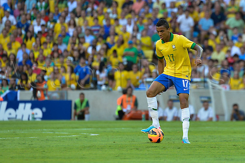 02.06.2013. Maracana Stadium, Rio de Janeiro, Brazil.   Gustavo of Brazil. International football friendly and the official opening of the newly refurbished stadium. The score ended at 2-2.